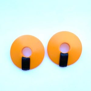 '80s vintage | abstract earrings